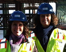 Deborah Kafoury '89 and Liz Smith-Currie '89 while working on moving the Sellwood Bridge.