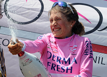 Mara Abbott won her second women's Tour of Italy on July 7, 2013. (Nicola Ianuale).