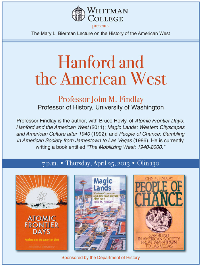 Hanford and the American West poster