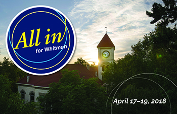 All In for Whitman! April 17-19, 2018