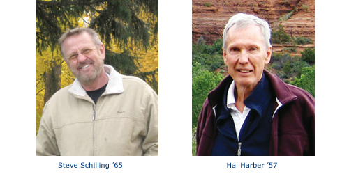 Outstanding Annual Giving Volunteers: Steve Schilling '65 and Hal Harber '57