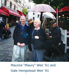 "Maurice ""Maury Weir '61 and Gale Hempstead Weir '61"