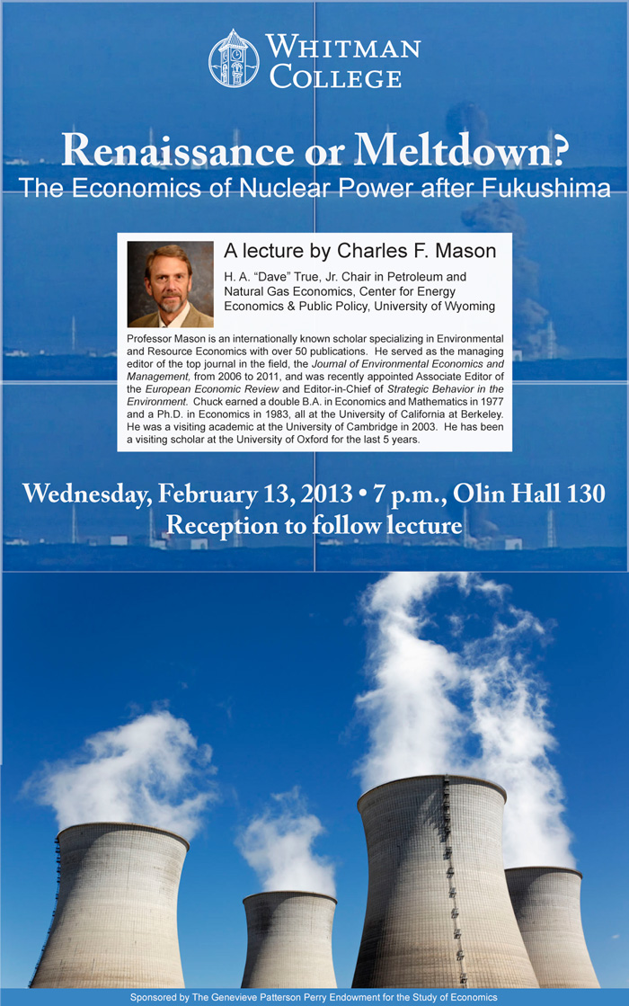 Charles Mason lecture poster