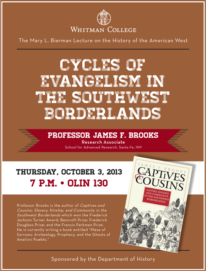 Cycles of Evangelism in the Southwest Borderlands lecture poster