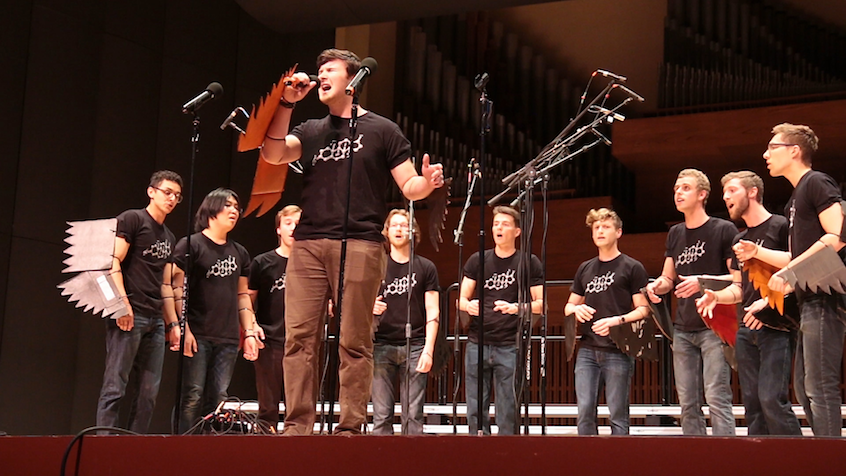 The lineup included Whitman's all-male a capella group, the Testostertones.