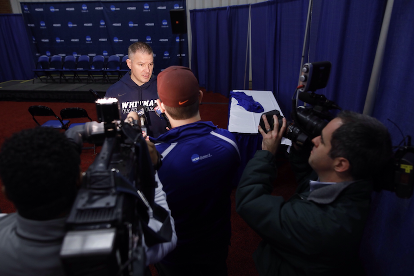 Head Coach Eric Bridgeland fields media questions