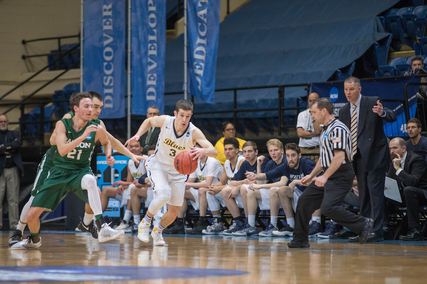Guard and psychology major Joey Hewitt '19 chipped in five two-pointers and two three-pointers.