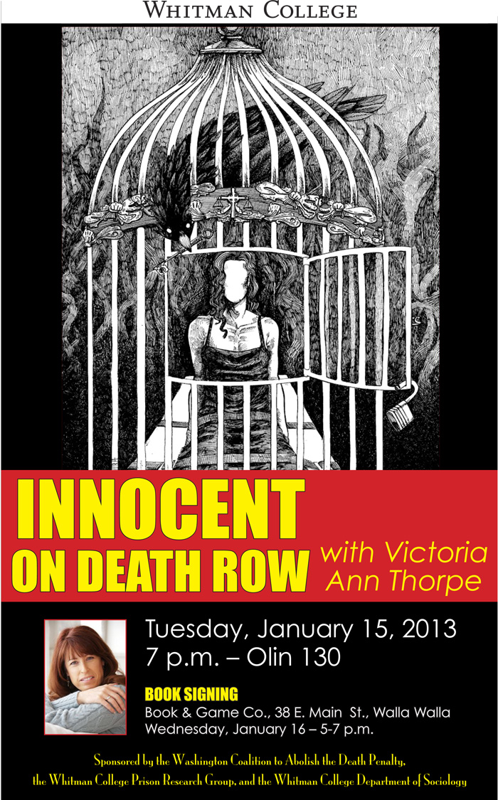 Innocent on Death Row event poster