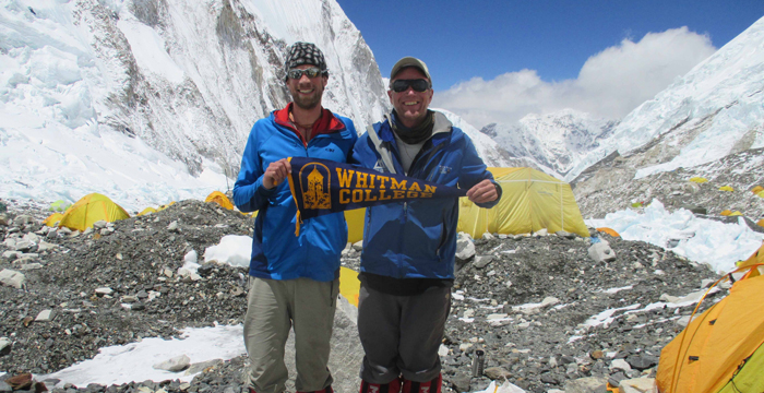 Justin Merle and Brein Sheedy at Camp 2 of Mt. Everest