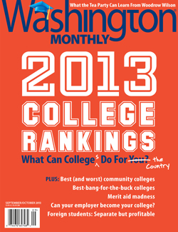 Washington Monthly 2013 College Rankings