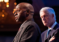 Ashifi Gogo '05 CEO of Sproxil with President Clinton