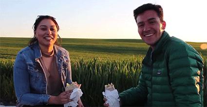 Bucket List: Burritos in the Wheat Fields!