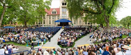 a scene from Whitman College Commencement