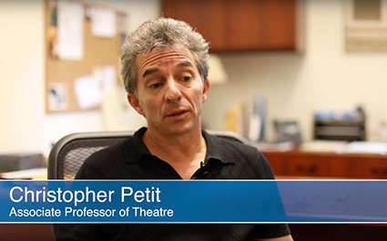 Associate Professor of Theatre Christopher Petit talks about Whitman's Instant Play Festival