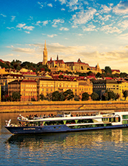 a cruise on the Danube through Budapest, Hungary