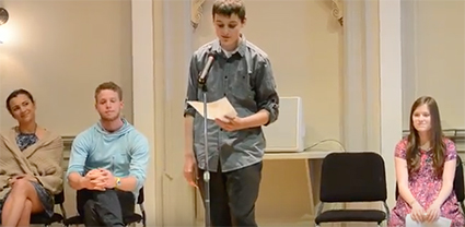 Students from the Walla Walla Public Schools read excerpts from their best creative writing.