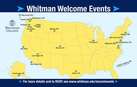 Whitman Welcome Events
