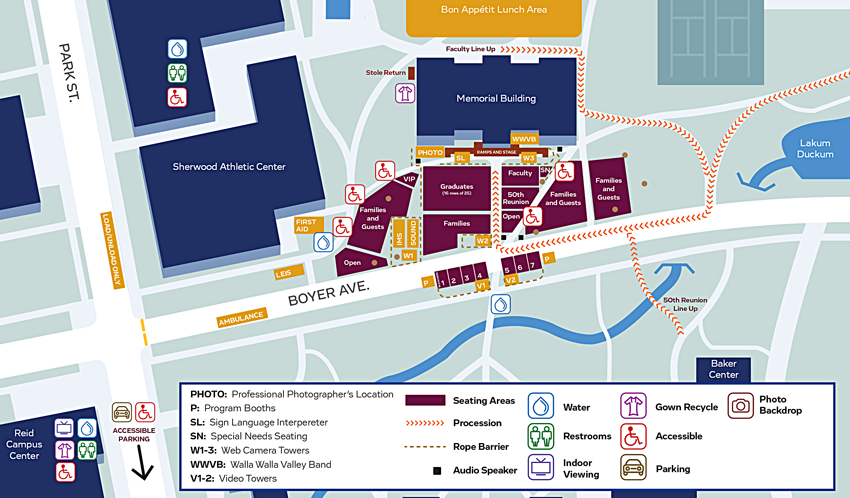 Commencement Map 2016