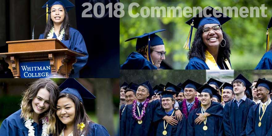 Whitman College Commencement 2018 - Now they are Whitman College Alumni