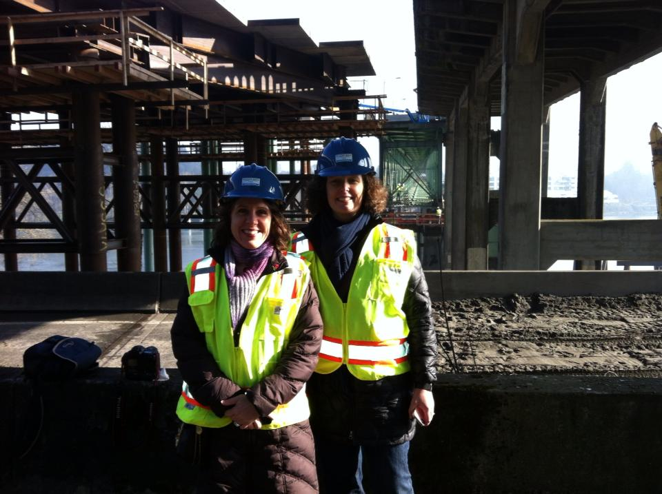 Deborah Kafoury '89 and Liz Smith-Currie '89 have been working on moving the Sellwood Bridge in Portland, Oregon.