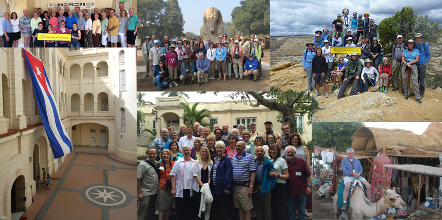 Scenes from recent trips with Whitman College Alumni and Friends