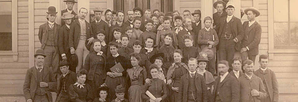 Whitman College Faculty and Students, 1888