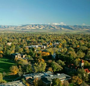 Whitman College Ariel View