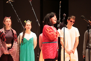 Students perform during the Choral Contest.
