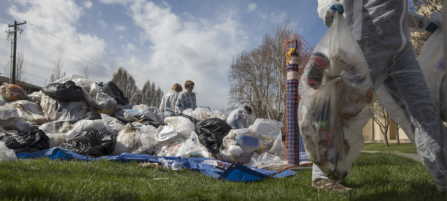 Whitties sift through one-and-a-half tons of garbage for eco-friendly purposes.