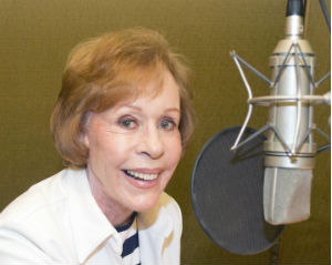 Carol Burnett in the studio