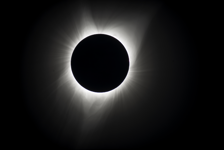 According to Associate Professor of Astronomy Nathaniel Paust '98, the sun's corona extends out into space by approximately three to five solar radii, meaning its total extent can be five times bigger than the rest of the sun. Photos courtesy of Nathaniel Paust.