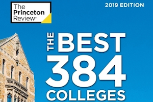 "Book cover ""The 384 Best Colleges"""