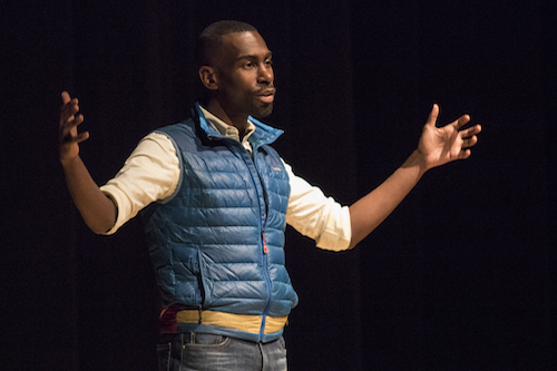 Civil rights activist DeRay McKesson delivers the keynote address.