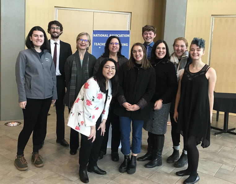 Whitman College voice-competitors at NAT