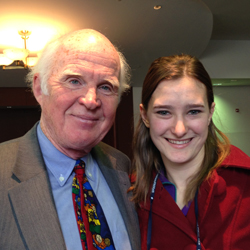 Sophie poses with Taylor Branch, a prominent historian on the civil rights movement.