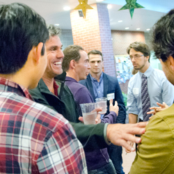 Alumni networking reception