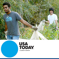 "Whitman featured in USA Today for annual ""Make A Difference Day"" effort"