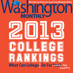 2013 College Rank Cover
