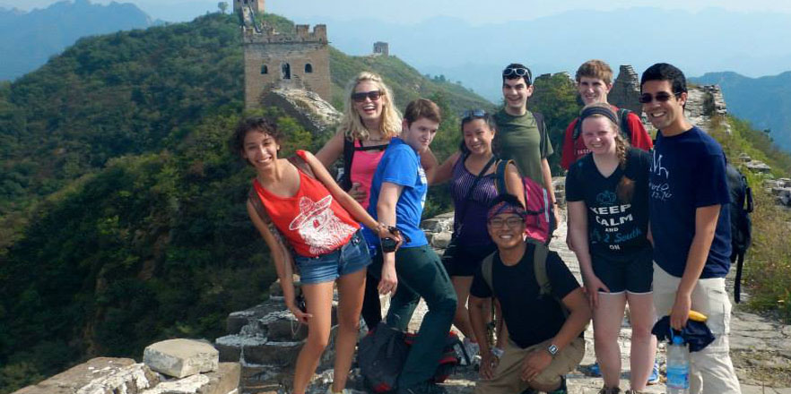 Whitties visiting the Great Wall in China