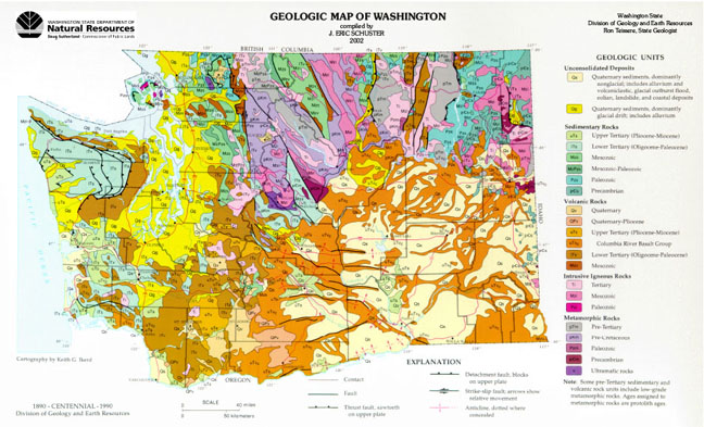 Geology Map from Department of Natural Resources