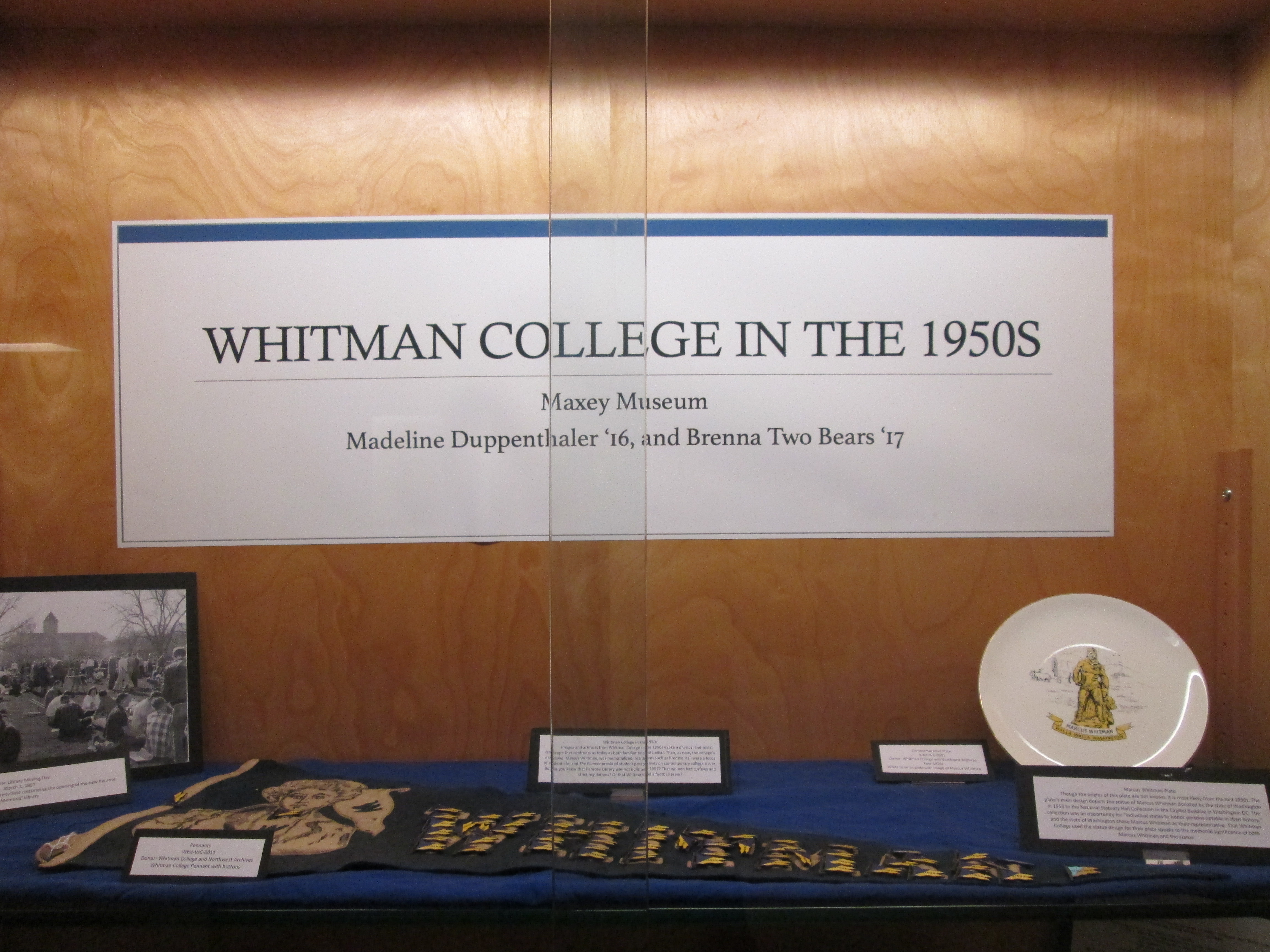 Top Shelf of Whitman in the 50's Exhibit