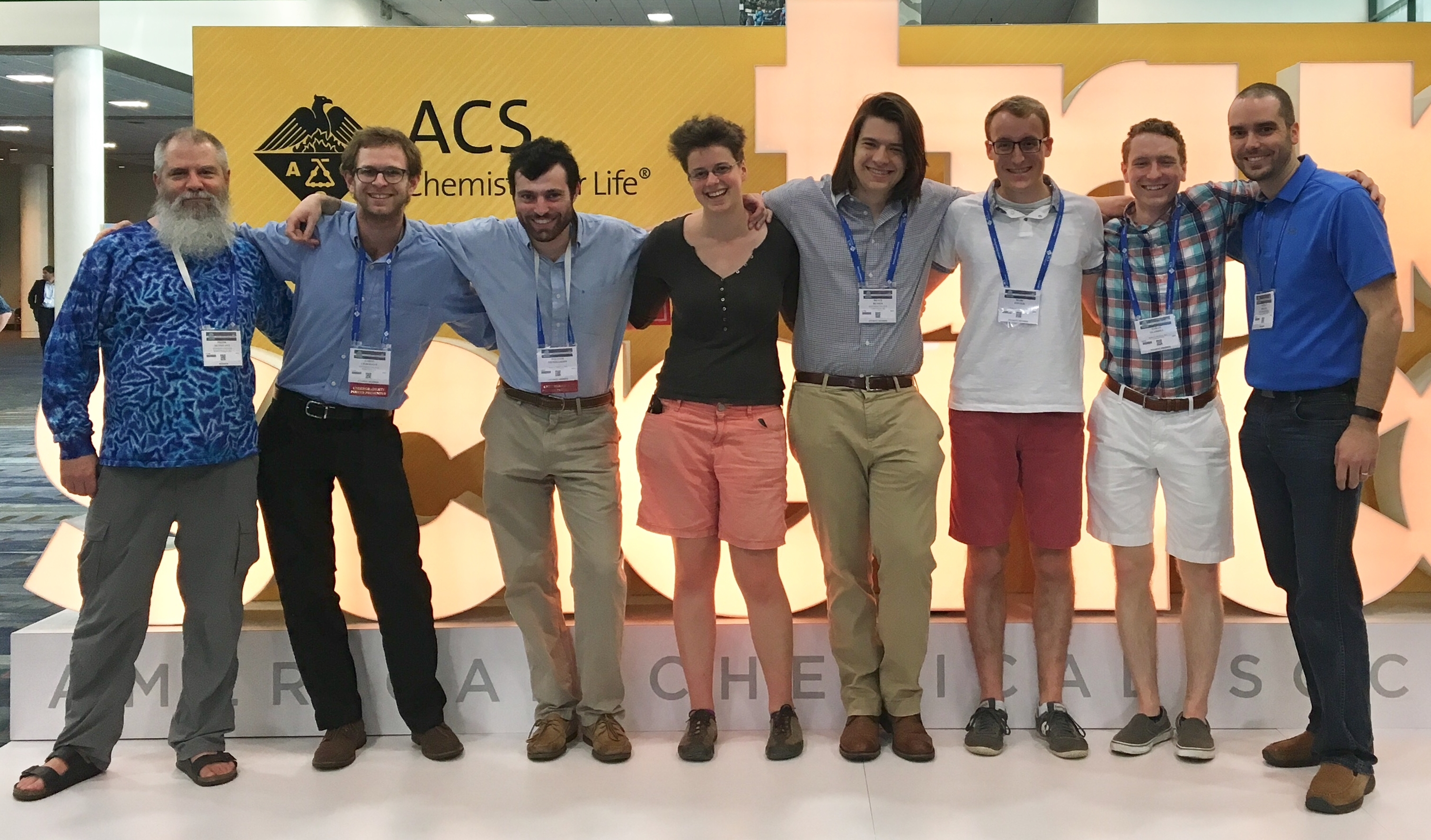 Whitman Chemistry students and faculty at the 2018 ACS Meeting in New Orleans