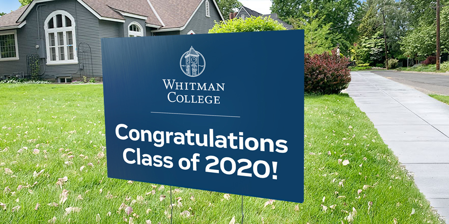 Yard Sign with Commencement Messaging