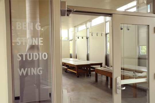 Entrance to the Ben G. Stone Studio Wing