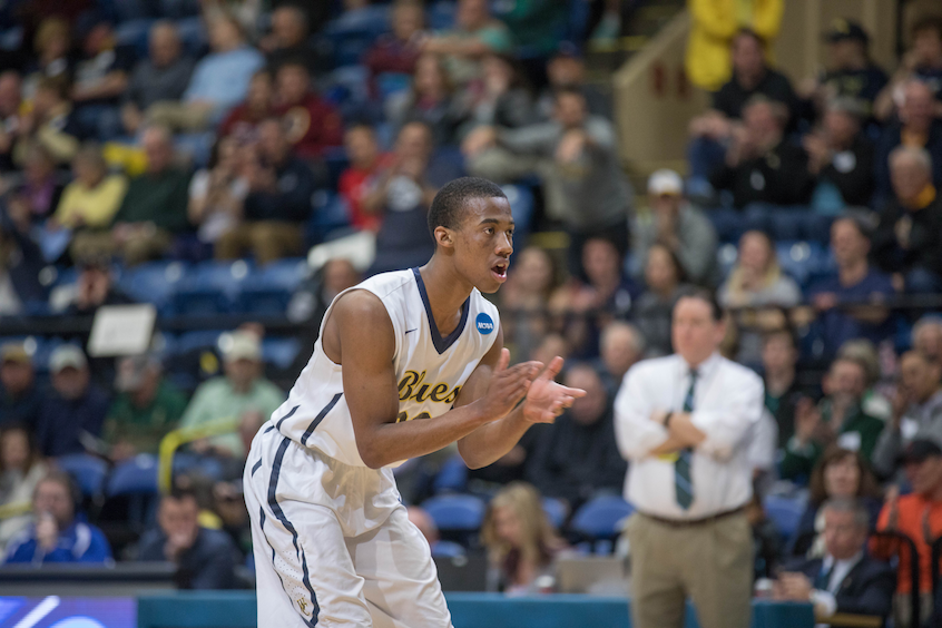 Howell urged on his Whitman teammates in the first half.