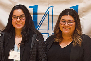 Salma Anguiano '22 and Ameliz Price-Dominguez '22 tied for first place in the national Letters to an Elected Official Competition, presented by Project Pericles.