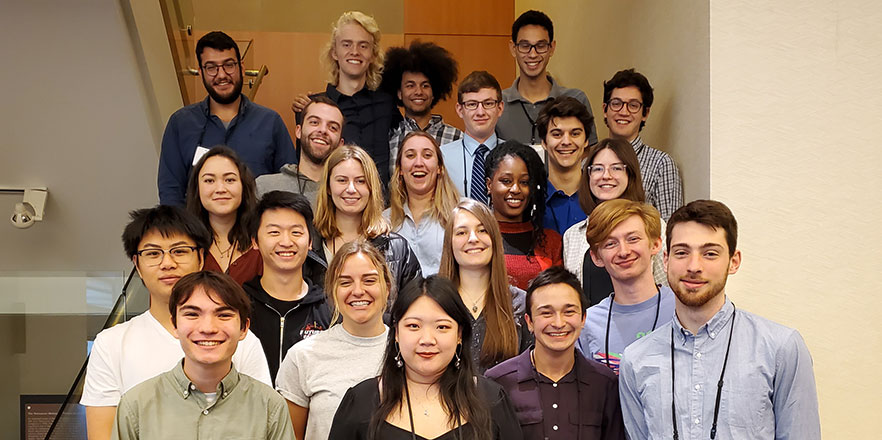 A group photo of students who participated in the 2019 Murdock conference.