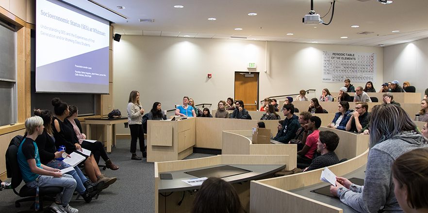 Students participate in panels and lectures during the 2019 Power and Privilege Symposium.
