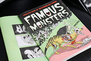 "Photos from the Maria Lux exhibit ""Famous Monsters."""