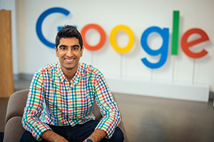 A portrait of Al-Rahim Merali at the Google campus.